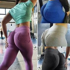 Womens Camo Butt Lift Yoga Pants Hip Push Up Leggings Fitness Workout Stretch BJ