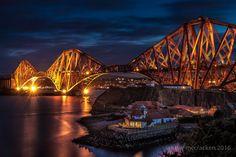 Forth Bridge World Heritage Site at Night