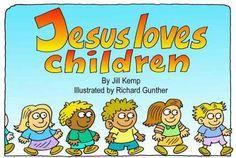 Jezus houdt van kinderen (zwart-wit)