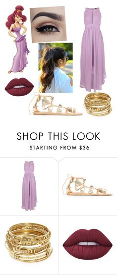 """Meg Disney bound"" by lostprincessofthesea on Polyvore featuring Ancient Greek Sandals, ABS by Allen Schwartz and Lime Crime"