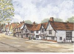 THE SWAN, LAVENHAM by Irene - Use the 'Create Similar' button to commission an artist to create your own artwork.