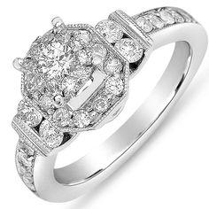 Ebay NissoniJewelry presents - Ladies Diamond Engagement Ring in 14K White Gold with 1.10CT Diamonds    Model Number:UB7140W/SH    http://www.ebay.com/itm/Ladies-Diamond-Engagement-Ring-in-14K-White-Gold-with-1.10CT-Diamonds/221630228694