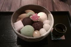 Japanese sweets: anmitsu