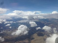 The Andes from the window seat. #Peru