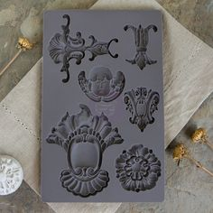 Iron Orchid Designs by Prima silicone molds for beautifully dimensional vintage style baroque goodies to embellish your décor and craft projects, AND they play well with so many many types of media: a