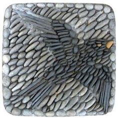 Kathleen Doody Pebble mosaic - bird by Stormdreamer