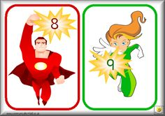 Superheroes cijferkaarten