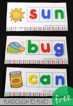 I would use this activity as a diagnostic assessment to determine if the student is able to spell from a visual representation. This encourages first grade students to recognize the relationship between written and visual representation of words. Kindergarten Language Arts, Kindergarten Centers, Preschool Learning, Kindergarten Activities, Phonics Centers, Literacy Centres, Kindergarten Classroom, Classroom Decor, Phonics Activities
