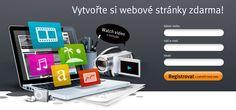Registrovat a vytvořit web