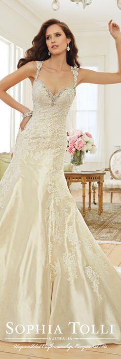 The Sophia Tolli Spring 2015 Wedding Dress Collection - Style No. Y11551 Swan www.sophiatolli.com #weddingdresses