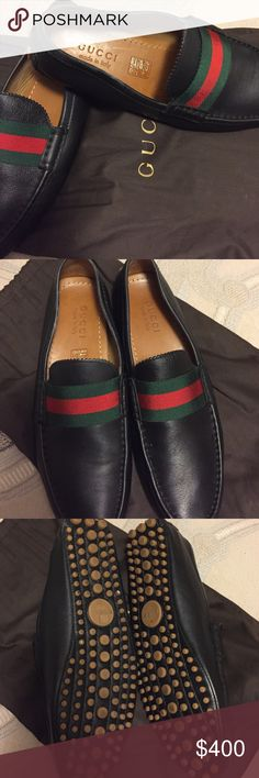 Gucci shoes Authentic Men's size 27 European. Comes with the bag. Gucci Shoes Loafers & Slip-Ons