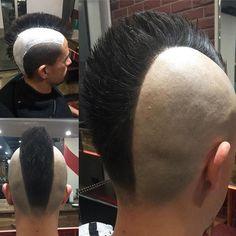 Instagram post by Tuấn Nguyễn💈barbershop💈 • Nov 7, 2019 at 2:51am UTC Mohawk Hairstyles Men, Hot Haircuts, Modern Haircuts, Everyday Hairstyles, Female Mohawk, Estilo Punk Rock, Hair And Beard Styles, Hair Styles, V Hair