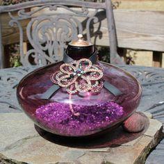 Purple Crystal Tiki Torch Oil Lamp