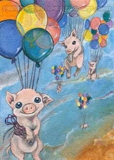 etsy.com/listing/85924971/flying-pigs-art-print-rainbow-balloons