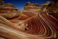 The Wave,  This stunning red rock located on the border of Arizona and Utah, USA.
