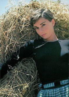 Audrey Hepburn in La Vigna, Italy, 1954