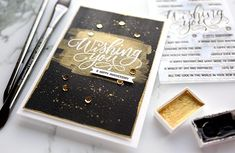 How to Make a Striking Black & Gold Brushstroke Card – kwernerdesign blog