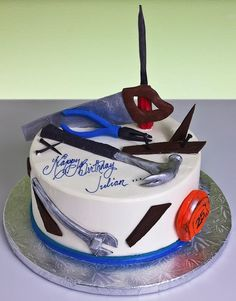 Birthday Cake Ideas For Adults Men, Birthday Cake For Men Easy, Birthday Cakes For Men, Cakes For Boys, Beautiful Cakes, Amazing Cakes, Cake Pop Decorating, 50th Anniversary Cakes, Retirement Cakes