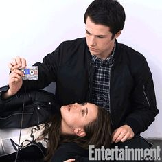 Katherine Langford and Dylan Minnette cute + funny moments (Thirteen Reasons Why) 13 Reasons Why Poster, 13 Reasons Why Quotes, 13 Reasons Why Netflix, Thirteen Reasons Why, Clay And Hannah, Justin Foley, Tv Series 2017, You Make Me Laugh, The Fault In Our Stars
