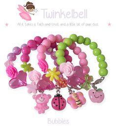 Twinkelbell Bubbles kinderarmbandjes met en zonder naam. Samen te stellen naar eigen wens. Little Girl Jewelry, Baby Jewelry, Kids Jewelry, Jewelry Crafts, Jewelry Making, Bangle Bracelets With Charms, Handmade Bracelets, Handmade Jewelry, Beaded Bracelets