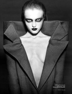 1920's German Neo Expressionist style Makeup and Wardrobe Editorial, artist unknown.