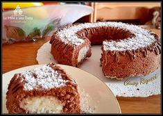TORTA BOUNTY - dolce CIAMBELLA al CIOCCOLATO ripiena con CREMA di COCCO Ricotta, Beautiful Fruits, Tasty, Yummy Food, Mini Desserts, Sweet Cakes, Doughnut, Food To Make, Muffin