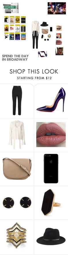 """My day in Broadway"" by nikki-usmc92 ❤ liked on Polyvore featuring Dolce&Gabbana, Christian Louboutin, Disney, Alexis, CÉLINE, Melissa Joy Manning, Jaeger, BCBGeneration and rag & bone"
