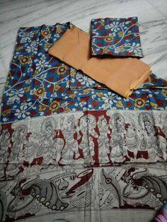 Kalamkari cotton dress materials  Click here to buy https://www.moifash.com/south-ethnicz/product?id=590888da6a3de5384167bb71