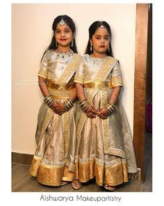 Stylish Dresses For Girls, Frocks For Girls, Dresses Kids Girl, Kids Outfits, Kids Indian Wear, Kids Ethnic Wear, Kids Blouse Designs, Bridal Blouse Designs, Baby In Wedding Dress