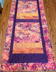 Mango Purple Batik Table Runner by derstinedesigns on Etsy