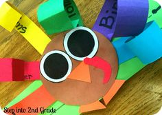Step into 2nd Grade with Mrs. Lemons: We Are Thankful!!! Great craft for primary students.