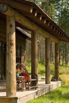 the log home porch