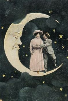 Vintage Paper Moon Postcard
