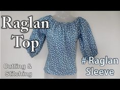 How to Make Balloon Top in Easy Steps Myanmar Dress Design, T Shirt Tutorial, Stitching Dresses, Sewing Blouses, Neck Designs For Suits, Short Tops, Clothing Patterns, Sewing Patterns, Blouse Designs