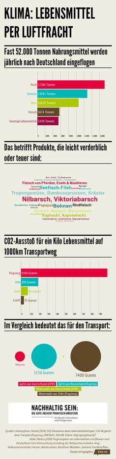 Infografik Klima Lebensmittel Lufttransport nachhaltigsein