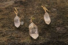 Double Terminated Herkimer Diamond Quartz by WanderingRockDesigns