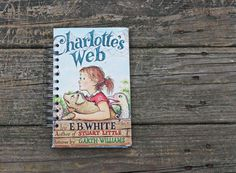 Charlotte's Web book journal  recycled by ExLibrisJournals on Etsy, $22.00