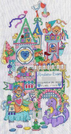baby castle cross stitch