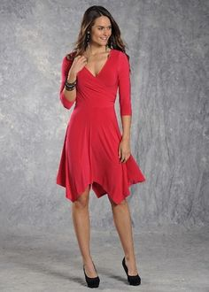 Hot Pink Surplice Dress #country #dress