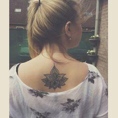 #lotus #flower #design #tattoo #back #blackink #ink