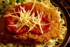 Veal or Chicken Parmesan on Noodles - Rusty Hill/Photolibrary/Getty Images