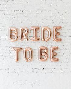 16in Rose Gold BRIDE TO BE Foil Balloon Set — Paris312 Elegant Bridal Shower, Foil Balloons, Bubbles, Rose Gold, Bride, Party, Wedding Bride, The Bride, Fiesta Party