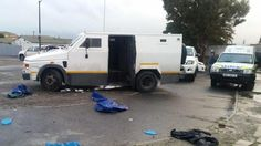 A gang of heavily armed men forced a cash van off the road, forced it open with explosives, shot the driver then fled the scene with an undisclosed amount of cash. Kempton Park.