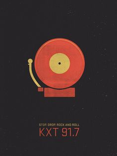 Poster for KXT 91.7, NPR's music station in Dallas by Dev Gupta