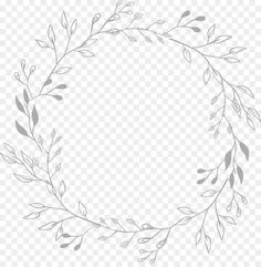 White Flower Png, White Flowers, Hand Embroidery Patterns, Ribbon Embroidery, Olive Wreath, Overlays Tumblr, Doodle Borders, Wreath Drawing, Simple Line Drawings