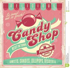 Vintage Poster Template For Candy Shop. - Download From Over 29 Million High Quality Stock Photos, Images, Vectors. Sign up for FREE today. Image: 34902289