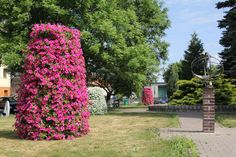 how to put some flower into the city parks - flower towers terra