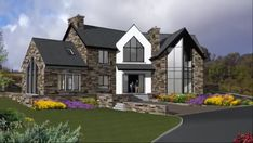 Country Modern Home, Country House Design, Bungalow House Design, Country House Plans, Square House Plans, Metal House Plans, Dream House Plans, House Designs Ireland, House Plans South Africa