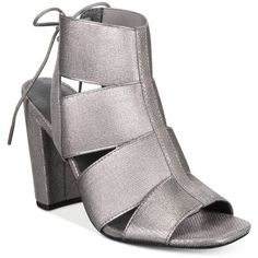 Rialto Mirabella Block-Heel Dress Sandals ($69) ❤ liked on Polyvore featuring shoes, sandals, pewter, greek sandals, dress sandals, rialto shoes, wide strap sandals and gladiator sandals shoes