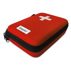 First Aid Kit  100 Piece Red Semi Hard Case for Emergency at Home Outdoors Car Camping Workplace Hiking  Survival *** Visit the image link more details. (This is an affiliate link) #CarEmergencyKit